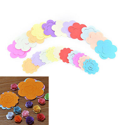 44pcs 11ColorsPaper Quilling Flower Rose Paper Handmade Material Accessories ~GN