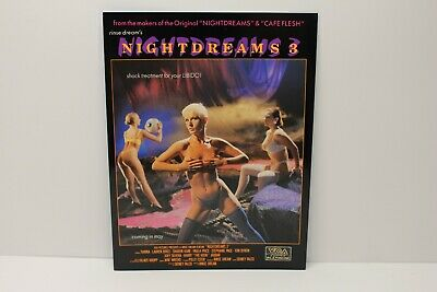 TIANNA / TARA COLLINS in Night Dreams 3, Promo Ad Slick Poster, Two-Sided