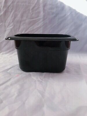 CAMBRO EN-631-1 GN1/9 x 4 in container.4 black containers