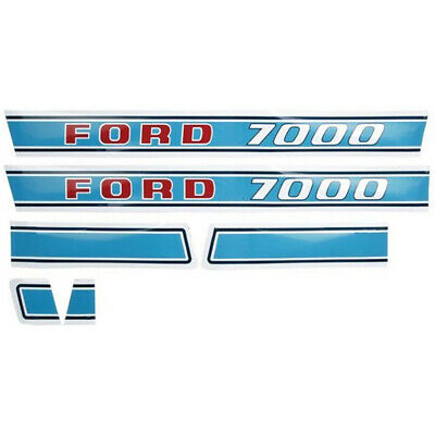 New Hood Decal Set for Ford Tractor 7000 Diesel (1971 & Up)