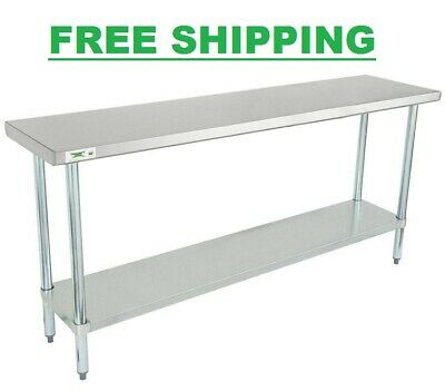 """NEW Commercial 18"""" x 72"""" Stainless Steel Work Prep Table With Undershelf Kitchen"""