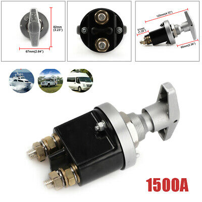 1500A Battery Isolator Disconnect Switch Power Kill Cut Off for Marine Boat RV
