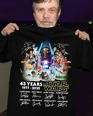 43 Years Of Star Wars 1977 2020 And Signatures Shirt