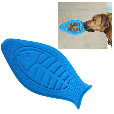 CW_  Pet Dog Puppy Silicone Wall Mounted Treat Lick Bowl Bath Distraction Toy De