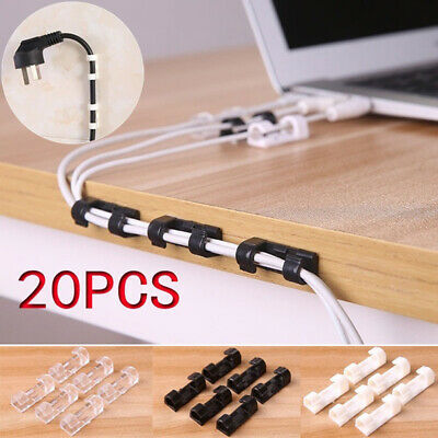 Cable Organizer Nylon USB Cord Ties Wire Winder Clip Cable Holder Reusable V6G4