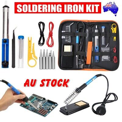 Soldering Iron Kit 60W Electric Welding Tools Wood Burning Pen Pyrography Craft