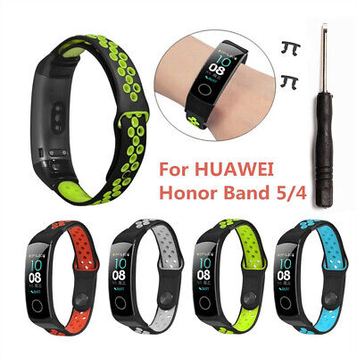 Replacement Silicone Sport Wristband Strap For Huawei Honor Band 5/4 Smart Watch