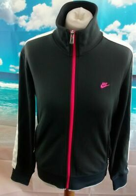 """Nike grey and neon pink Tracksuit Jacket. 19.5"""" pit-to-pit, 25.5"""" length, Large"""