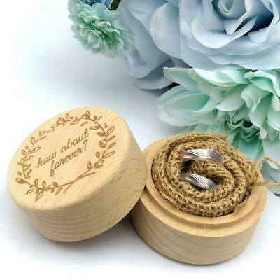 Wedding Wooden Ring Box Jewelry Trinket Storage Holder Custom How About Forever