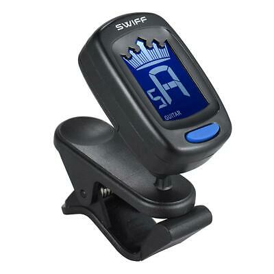 Clip-on Digital Crown LCD Tuner for Classic Folk Acoustic Guitar Chromatic UK