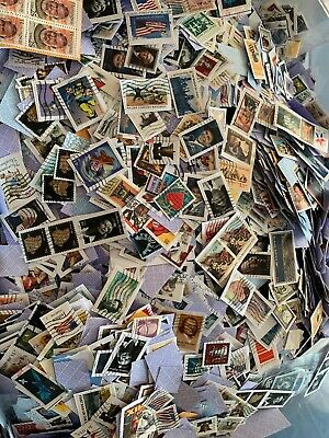 Big Lot Of 200 Mixed Used & Cancelled U.s. Postage Stamps On Paper New & Vintage