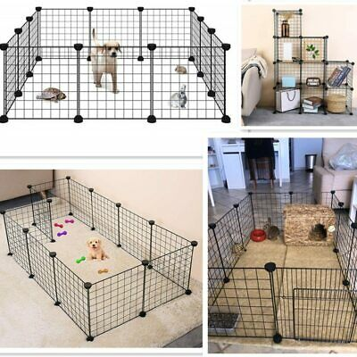Foldable Pet Playpen Iron Fence Puppy Kennel House Exercise Training Puppy