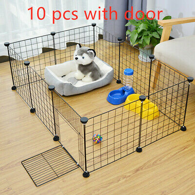 Foldable Pet Playpen Crate  Iron Fence Puppy Kennel House Exercise Training