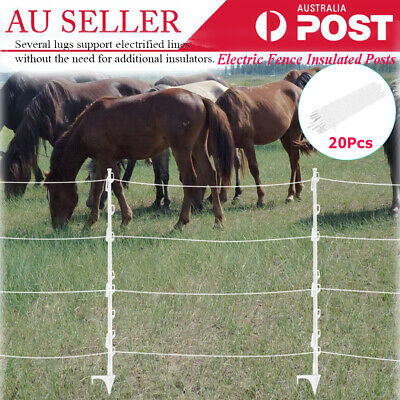 20X Tread In Post Electric Fence Insulated Livestock Horse Sheep Graze Fencing