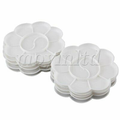 Plastic Wear-Resistant Paint Tray Palette Tray Painting White Pack of 10