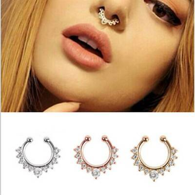 Surgical Steel Open Hoop Nose Ring Cartilage Lip Piercing Stud Body Jewelry LL