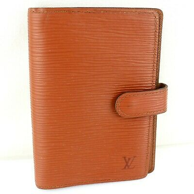 Auth LOUIS VUITTON AGENDA PM Notebook Cover Epi Leather R20053 Kenyan Brown