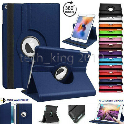 "For Apple iPad 7th Generation 10.2"" (2019) 360° Rotating PU Leather Case Cover"
