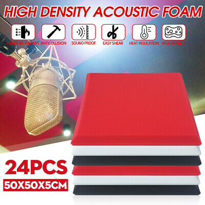 28kg/m3 Studio Acoustic Foam Panels Tiles Sound Proofing Absorbtion 50X50X5cm