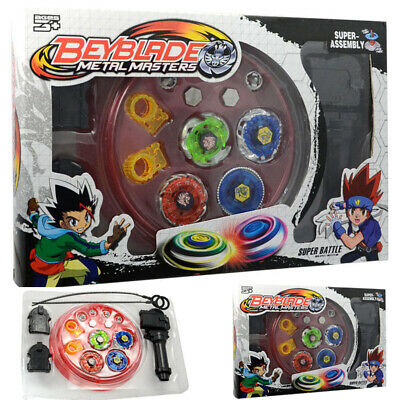 4D Beyblade Set Fusion Top Metal Rapidity Masters Launcher Grip Toys with box