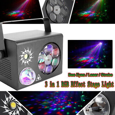RGB Disco Party DJ LED Stage Effect Light Pattern Laser Crystal Magic Ball DMX