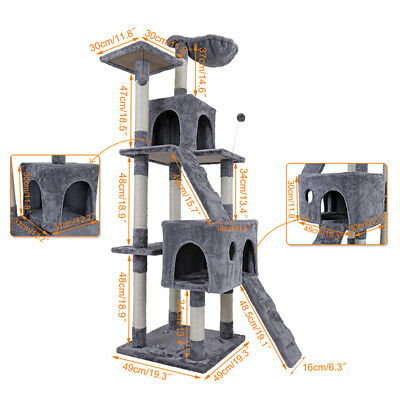 """very quality  68"""" Cat Tree Kitten Activity Tower Condo Stand with Deluxe"""
