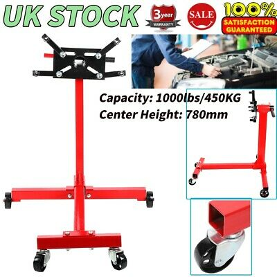 Heavy Duty 360 Degree Swivel Transmission Gearbox Engine Support Stand 450KG UK