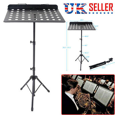 Heavy Duty Foldable Music Stand Holder Base Tripod Orchestral Conductor Sheet UK