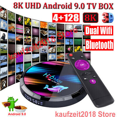 H96 MAX X3 4G+128G 8K Android 9.0 5G WIFI BT Smart TV BOX 64Bit HDR10 Amlogic 3D