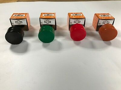 """Lixie Set Of 4,  1-1/2"""" Replacement Hammer Faces, Black, Green, Red, Orange, New"""