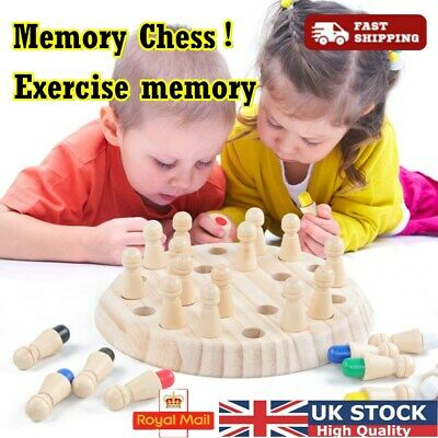 Wooden Memory Matchstick Chess Children Game Educational Intelligent Toy Gifts