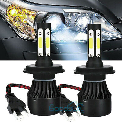 CREE H4 HB2 9003 2500W 375000LM 2-Sides LED Headlight Kit Hi/Lo Power Bulb 6000K