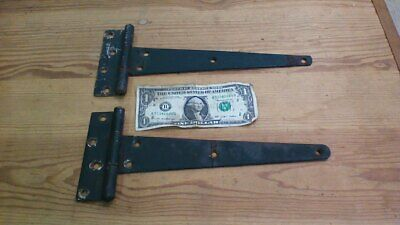 2 Large Vintage Barn Door Shed Gate  Primitive Strap Hinges