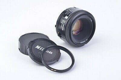 EXC+++ NIKON AF NIKKOR 50mm F1.8 LENS, + B+W UV FILTER, VERY CLEAN AND SHARP!