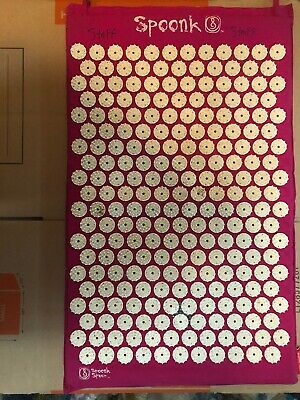 """Spoonk Space Acupressure Massage Travel Mat 27"""" x 16"""" Full Mat Size Red."""