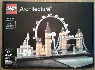 "LEGO ""London Skyline"" Architecture Collection Series 21034, sealed in box"