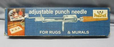 Phentex ADJUSTABLE PUNCH NEEDLE For Rugs & Murals with Instructions