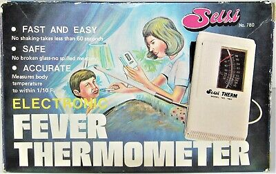 Very Rare Vintage Selsi Electronic Fever Thermometer w/ Box Highly Collectible