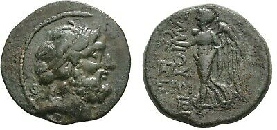 Ancient Greece 150-50 BC CILICIA ELAIOUSA-SEBASTE NIKE ZEUS WREATH Æ #2