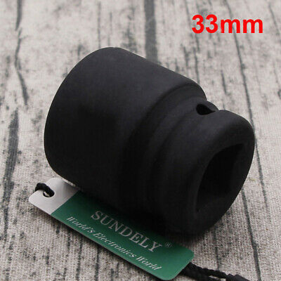 33mm Metric 1 Drive Deep Impact Socket 6 Sided Single Hex Thick Walled
