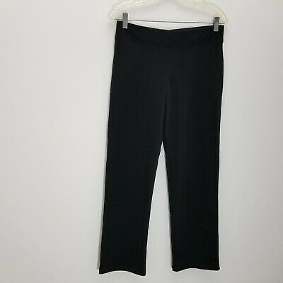 Eileen Fisher Womens Pants PS Cotton Stretch Athleisure Black Pull On Straight