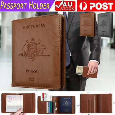 NEW Slim Leather Travel Passport Wallet Holder RFID Blocking ID Card Case Cover