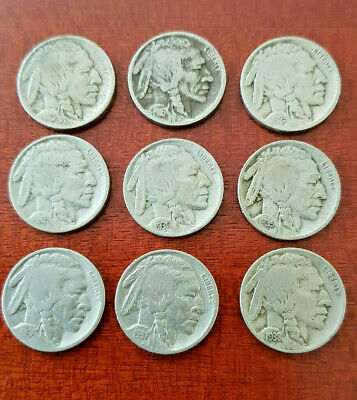 💥Lot Of Nine Buffalo/Indian Head Nickels Including 1913 & 1916  Plus More✨