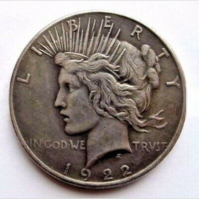 Two Sided 1922 Peace Silver Dollar Coin Headed Coin