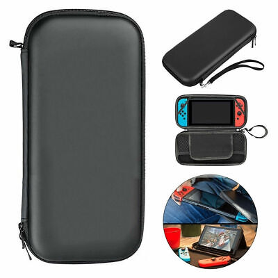 Black Slim Armor EVA Hard Travel Case Cover Carrying Tough For Nintendo Switch
