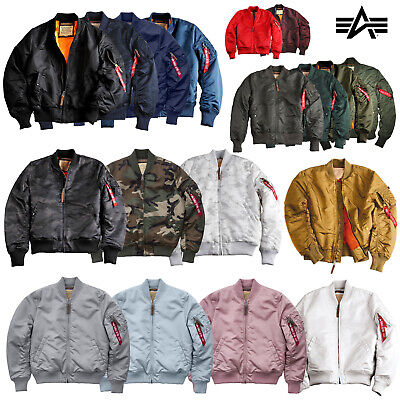 Alpha Industries Giacca Uomo ma-1 VF Flying Tigers BOMBER GIUBBOTTO FODERATO s-3xl