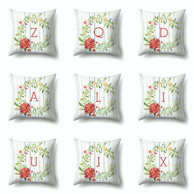 Simple Letter Print Pillow Case Cushion Cover Bedroom Living Room Decor Gift