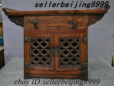 Old China Temple Huang Huali Wood Cabinet Drawer Locker Sacrificial Stage Table