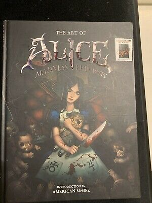 *SIGNED* The Art of Alice Madness Returns American McGee Book