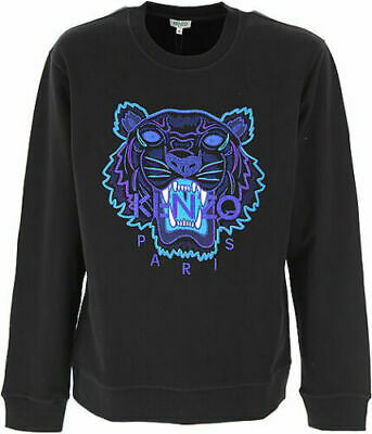 AUTHENTIQUE PULL SWEAT EDITION LIMITEE BLUE  Kenzo DRAGON TIGER Homme Noir NEUF